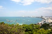 Pattaya City Bird Eye View, Thailand.