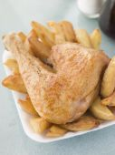 Grilled Chicken with fries