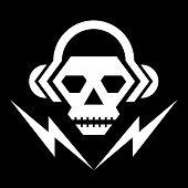 Skull Music Sign 02