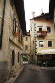 Historic Street In Skofja Loka