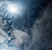 image of human soul  - Man with conceptual spiritual body art - JPG
