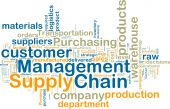 foto of supply chain  - Word cloud tags concept illustration of supply chain management - JPG