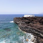 House on a cliff, El Hierro, Canary Islands