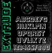 picture of grotesque  - Handmade retro font - JPG