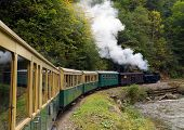 picture of steam  - Mocanita touristic train  - JPG
