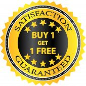 Buy One Get One Free Retail Shopping Badge
