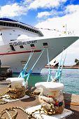 Carnival Spirit Cruise Liner Docked At Sydney Harbour