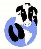 Cow Carbon Hoof Print