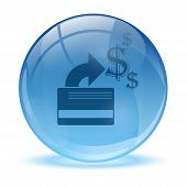 3D Glass Sphere Credit Card Icon