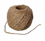 picture of hasp  - Hemp twine hank isolated on a white background - JPG