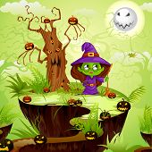 Witch in Halloween land