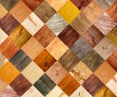 Collage of different wooden texture