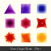 colourful geometric rosettes
