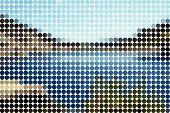 Landschape azulejos círculos (vector)