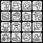 Tools icons line