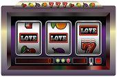 foto of poker machine  - Illustration of a slot machine with three reels - JPG
