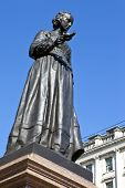 stock photo of guardsmen  - Statue of the famous nurse Florence Nightingale in London.