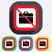Case sign icon. No Briefcase button.