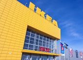 Samara, Russia - March 9, 2014: Ikea Samara Store. Ikea Is The World's Largest Furniture Retailer An