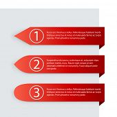 Horizontal red labels with copy space vector template.