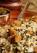 picture of rajasthani  - Gatte Ka Pulao is Gram flour dumpling and rice preparation from Rajasthan - JPG
