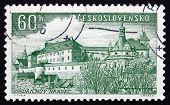 Postage Stamp Czechoslovakia 1955 Jindrichuv Hradec, Town
