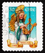 Postage Stamp Ireland 1999 Angel, Christmas