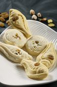 picture of bengali  - Sandesh is traditional bengali sweet dish prepared with cottage cheese - JPG