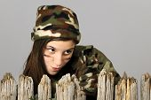 picture of camo  - Behind a Fence in Camo - JPG