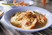 Hokkien Soup Prawn Noodles Closeup