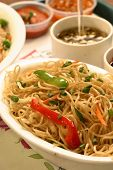 Chow mein is a Chinese term for stir-fried noodles