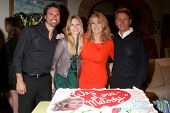 LOS ANGELES - MAR 4:  Joshua Morrow, Lauralee Bell, Melody Thomas Scott, Bradley Bell as Melody Thom