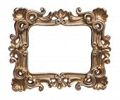 Golden frame with pattern