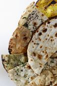 Naan Platter - Indian Flat Breads.