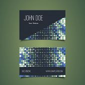 Business Card Template with Abstract Dotted Design