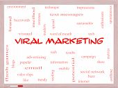 Viral Marketing Word Cloud Concept On A Whiteboard