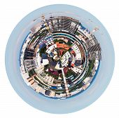 Urban Spherical Panorama Of Moscow Living District