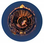 Spherical Panoramic View Of Moscow In Night