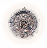Spherical Panorama Of Paris With Pantheon