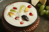 Fruits Shrikhand is an Indian sweet dish