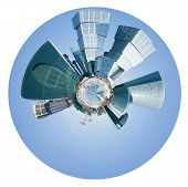 Spherical View Of Moscow City