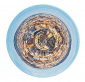 Spherical View Of District In Barcelona, Spain