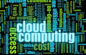 stock photo of computer technology  - Cloud Computing Technology Concept as a Abstract - JPG