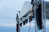 Stage Spotlight With Loudspeakers