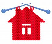 The house knitted