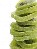 Stack Of Dried Kiwi Fruits