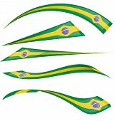Brazil Flag Set On White Background