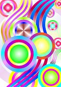 Abstract Circles And Lines On White Background