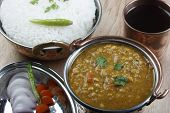 image of tadka  - Mixed dal made of boiled lentils cooked with fresh Indian spices and vegetables - JPG