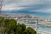 Barcelona cityscape.